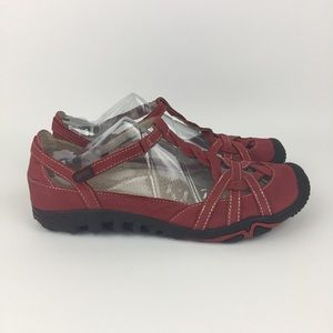 Jambu Xterra Air Vent 360 Womens Red Leather Shoes